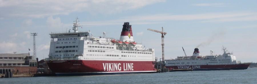 Паром Викинг лайн в Хельсинки. Viking Line in Helsinki. Терминал KATAJANOKKA.
